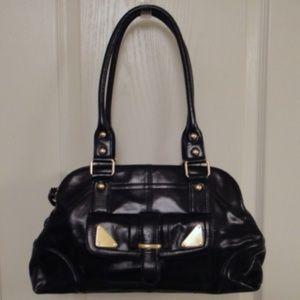 Kate Landry Handbag Black Leather Excellent Shape